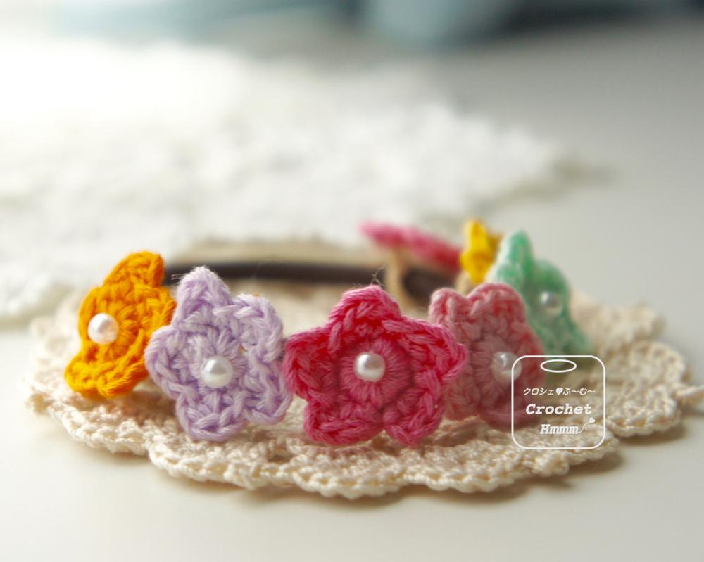 刺繍糸のヘアゴム