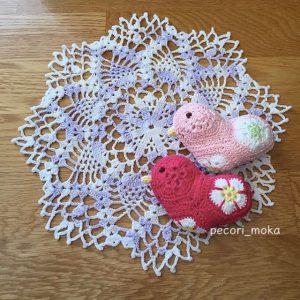 Pink and red birds made by pecorino_moka