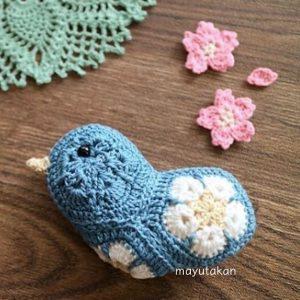 A blue bird made by mayutakan